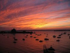 Sunset in Newport, Rhode Island, via Flickr. by margery