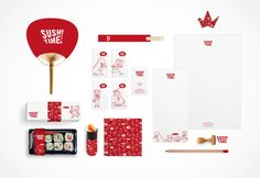 Sushitime Branding by Karen Leopold, via Behance