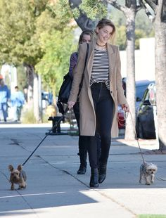 Amber Heard from The Big Picture  Easy breezy! The actress is spotted walking her adorable dogs in Los Feliz.