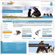 Internetseite Onlineshop 4activedogs.de / Leistungen: Technische Umsetzung / Techniken: Oxid eShop CE, PHP, Javascript, XHTML, CSS