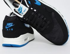 #Nike Air Max 1 Black Blue