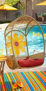 My daughter swoons over this Flower Swingasan chair swing every time we go into Pier 1.
