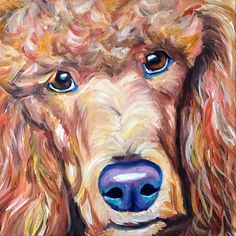 #standardpoodle #poodle $175  #dogpainting #gift order a custom pet portrait painting from photos of your pet! http://www.melissasmithart.com