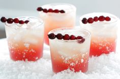 Seasonal skinny Cocktail - Cranberry Vanilla