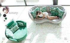 Sofá elegante de diseño avanzado. Sus curvas hacen del sofá una pieza muy especial, tan bonito por delante como por detrás.