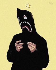 Bape Wallpaper wallpaper by - 57 - Free on ZEDGE™ Bape Shark Wallpaper, Trippy Wallpaper, Cool Wallpaper, Iphone Wallpaper, Graffiti Wallpaper, Arte Dope, Dope Art, Cartoon Drawings, Cartoon Art