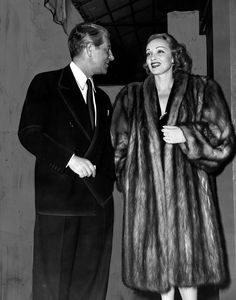 Marlene Dietrich and French actor Jean Gabin at a 1943 movie premiere.