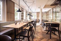 Innenarchitektur Gastronomie - Restaurant Gasthaus Design - Lokaleinrichtung Commercial Interior Design, Commercial Interiors, Lokal, Restaurant Design, Designer, Conference Room, Furniture, Home Decor, Fine Dining