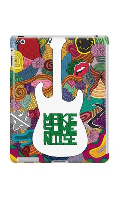 """Make some noise (music)"" iPad Cases & Skins by #Beatrizxe in #Redbubble #Illustration inspired by the felling that music brings. Appear simbols of groups like #Nirvana, #GreenDay, #RollingStones, #Evanescence, #WhitinTemptation ///// #Ilustracion inspirada en las sensaciones que la #musica provoca. Aparecen símbolos de diversos #grupos  #draw #artwork #art #artist #creative #inspiration #ink #design #creativity #lineart #doodle #DigitalColor #color"
