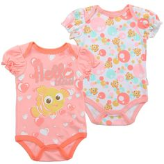 Color Coral And White Sizes 0/3 Months 3/6 Months 6/9 Months Made From 60% Cotton 40% Polyester Brand Disney Finding Nemo