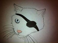 Sketchy #783: Dana Locke (as a cat) by Richard the Mink