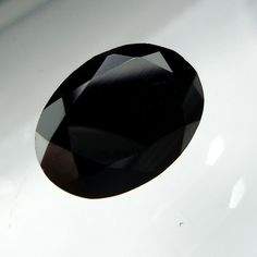 7.7 Carat 13.7x10x7 MM Natural Black Spinel Oval Shape Micro Faceted Cut Stone #Unbranded