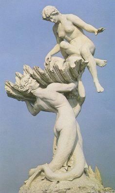 Fuente de las Nereidas (detalle),obra de la escultora Argentina: Lola Mora. Monumento en la costanera surde Buenos Aires, Argentina