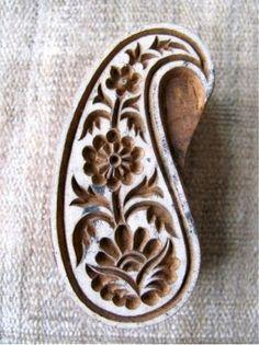 beautiful indian paisley woodblock