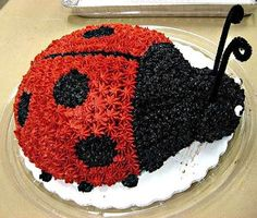 Ladybug Cake This Cool Was Made Using Buttercream