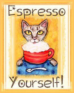 Espresso Coffee Cat - Jamie Edwards
