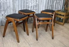 This is a fantastic opportunity to purchase some classic 1960s vintage wooden stools. These stools would look great in a cafe, bar or restaurant and...
