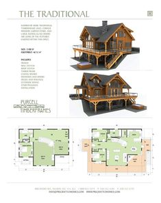 I could live here! Purcell Timber Frames - Prefab Full Home Packages - The Traditional Dream House Plans, House Floor Plans, My Dream Home, Timber Frame Homes, Timber Frames, Cabin Design, House Design, Log Cabin Homes, Cabins