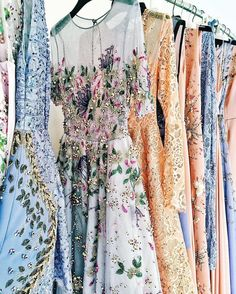 "1,061 Likes, 12 Comments - WedLuxe Media (@wedluxe) on Instagram: ""The palette of this rack of @georgeshobeika #couture gowns courtesy of @margoandme's #PFW coverage…"""