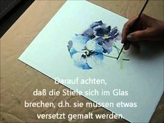 Aquarell - Günther Spath malt Stiefmütterchen - YouTube
