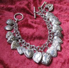 My Original Victorian Hearts Charm Bracelet~ BelleWest.com
