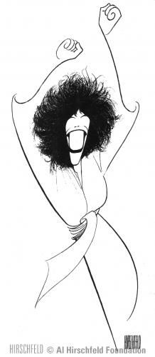 Al Hirschfeld ~ LILY TOMLIN in THE SEARCH FOR SIGNS OF INTELLIGENT LIFE IN THE UNIVERSE