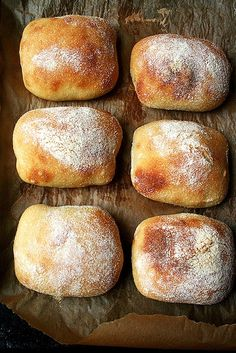 Make your own ciabatta rolls - do not attempt this at home or you will NEVER EVER leave the house.