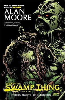 Saga of the Swamp Thing Book Two by Alan Moore, and Len Wein, art by Stephen Bissette, John Totleben, Shawn McManus, Rick Veitch, Alfredo Alcala, Ron Randall, and Berni Wrightson