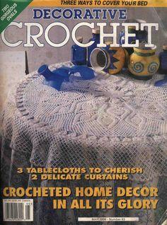 Decorative Crochet Magazines 35 - Gitte Andersen - Álbuns da web do Picasa Crochet Tablecloth Pattern, Crochet Doily Patterns, Crochet Chart, Filet Crochet, Crochet Designs, Crochet Doilies, Irish Crochet, Knitting Magazine, Crochet Magazine