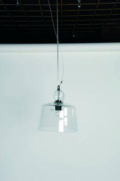 Hanglamp glazen stolp 25cm diameter E27