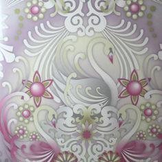 Wallpaper design 'Cisne' reference 1280013(10 metres x 53cms) #Paper Moon #Wallpaper #Catalina Estrada #Swans