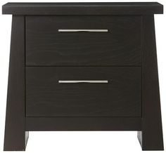 A strong, modern nightstand. #HomeDecorators