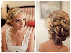 Pretty wedding hair - Jinah, you're thinking up and curly right? Or something else?