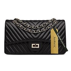 New Trending Shopper Bags: SanMario Designer Handbag Lambskin Classic V Shaped Stitch Double Flap Gold Tone Metal Chain Womens Crossbody Shoulder Bag Black 28cm/11. SanMario Designer Handbag Lambskin Classic V Shaped Stitch Double Flap Gold Tone Metal Chain Women's Crossbody Shoulder Bag Black 28cm/11″  Special Offer: $85.99  200 Reviews Offer: Factory Direct Sales: Better Quality with Cheaper Price. Condition: 100% Brand New and...