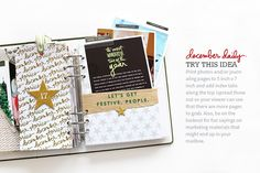 Ali Edwards Design Inc. December Daily, Ali Edwards, Paper Crafts, Diy Crafts, Daily Journal, Travelers Notebook, Happy Planner, Project Life, Mini Albums