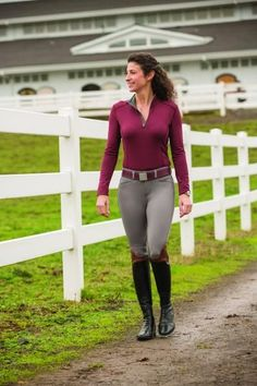FITS Erin Base Layer Shirt| Cordovan riding outfit boots