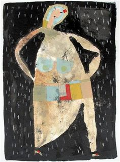 """Mexican Rain"" by Scott Bergey. 12 x 9, mixed media on paper."