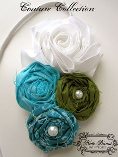 Vintage Couture Shabby Chic Flower cluster by petitepeanut on Etsy, $18.00