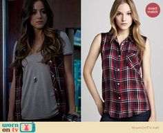 Skye's red plaid sleeveless shirt on Agents of SHIELD. Outfit Details: http://wornontv.net/19823 #AgentsofSHIELD #ABC