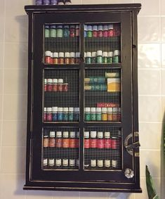 ESSENTIAL OIL STORAGE/ Nail Polish Cabinet or by LetThereBeWine