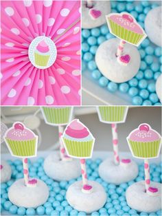 Cupcake Baking pink birthday party with lots of ideas on DIY decorations, printables, food and favors!