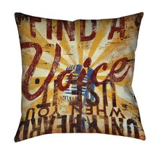 """""""The Voice Within"""" Outdoor Throw Pillow"""