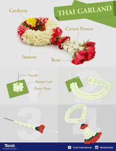 How to make Thai garland. #infographic #tips #howto