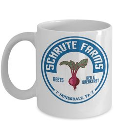 Schrute Farms Beets By Trinkets & Novelty The Office Merchandise. This 11-oz Tv Show Inspired Michel Scott Dwight Jim The Office Coffee Mug is Perfect for any Dunder Mifflin Employee
