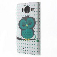Lumia 950 vihreä pöllö puhelinlompakko. #lumia950 #tyyliluuri #kuoret #pöllö