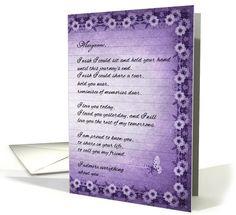 11 best final good bye hospice care end of life cards images on custom hospice end of life for a friend sentimental purple card by doreen erhardt purple cards m4hsunfo