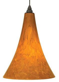 Gracefully shaped glass shade, richly layered in brilliant frit, with machined top detail.