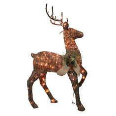Holiday Living 1-Piece Grapevine Deer Outdoor Christmas Decoration | Lowe's Canada