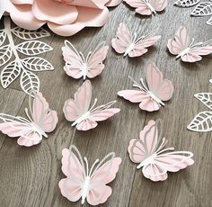silver paper butterflies wall decor, baby girl nursery and room decor, Diy Butterfly Decorations, 3d Butterfly Wall Decor, Butterfly Mobile, Paper Butterflies, Paper Flowers, Paper Flower Wall, 3d Paper, Paper Crafts, Paper Butterfly Crafts