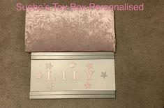 Personalised Toy Box, Toy Boxes, Lily, Curtains, Toys, Home Decor, Activity Toys, Blinds, Decoration Home